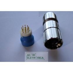 Conector circular 9 vias (8+1)macho M23 cabo 11-17mm