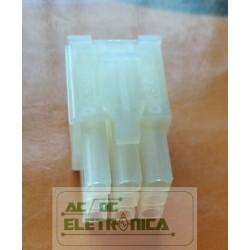 Conector 09 vias macho 4,14mm 660809hm051 - Excon