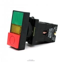 Botão de comando duplo toque iluminado P20ITL-Y-1C