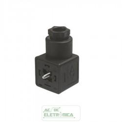 Plug para bobina de solenoide fêmea 4 vias 18mm