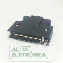 Conector 50 vias macho solda fio mini centronics
