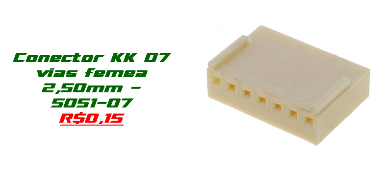 Conector KK 07 vias femea 2,50mm - 5051-07